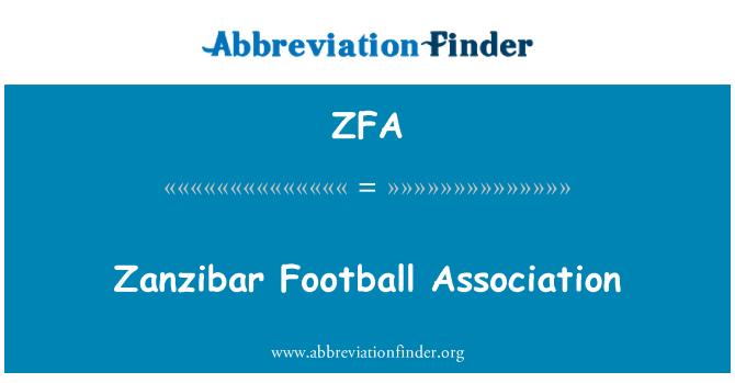 ZFA: Zanzibar Football Association