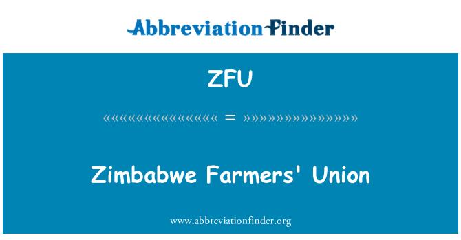 ZFU: Kesatuan Zimbabwe Peladang