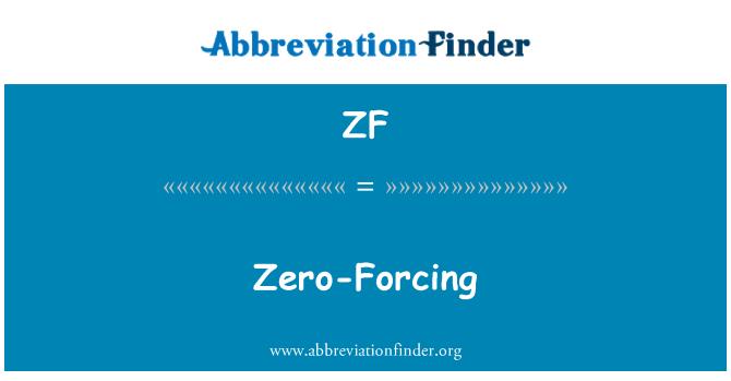 ZF: Zero-Forcing