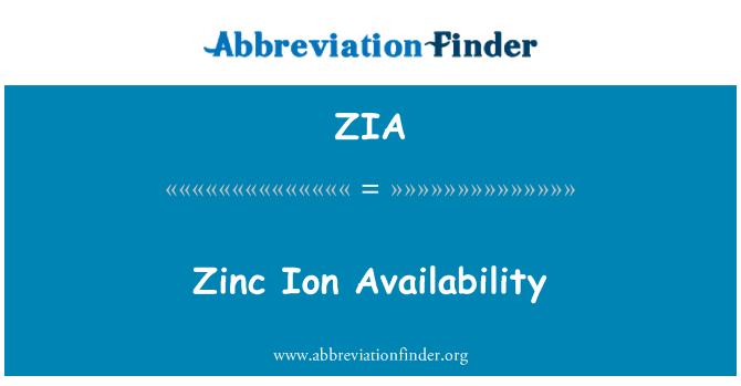 ZIA: Disponibilidad de iones de zinc