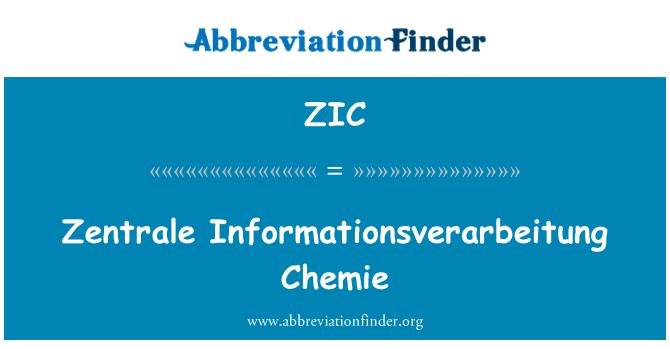 ZIC: Zentrale Informationsverarbeitung Chemie