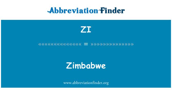 ZI: Zimbabwe