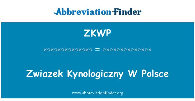 ZKWP: Zwiazek Kynologiczny W Polsce
