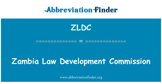 ZLDC: Zambia Law Development Commission