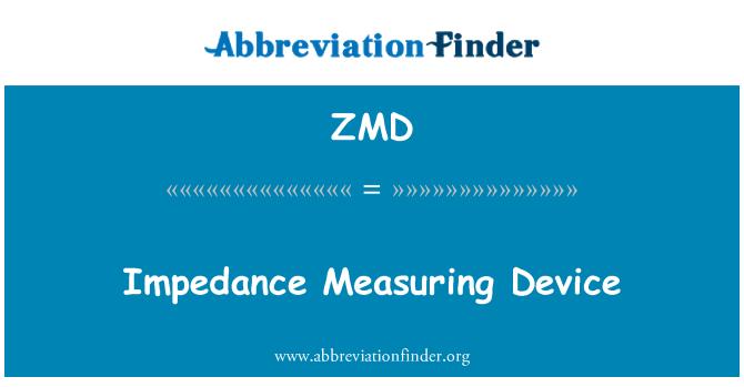 ZMD: Impedance Measuring Device