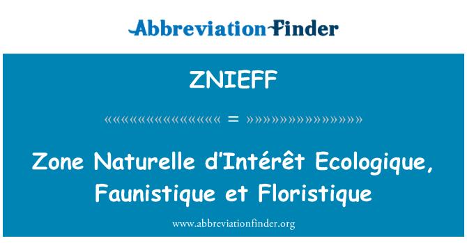 ZNIEFF: Zona Naturelle d'Intérêt Ecologique, Faunistique et Floristique