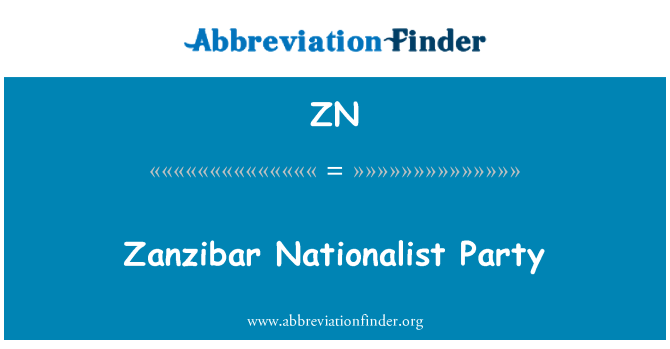 ZN: Zanzibar Nationalist Party