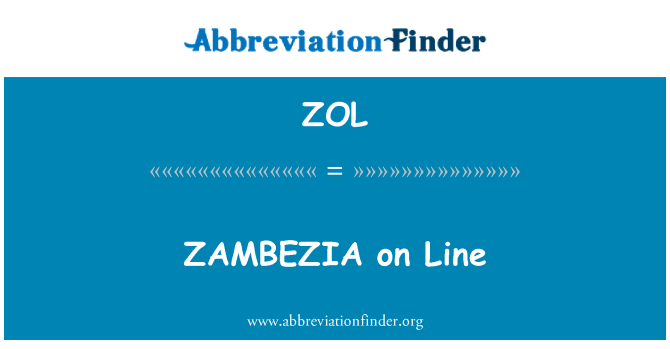 ZOL: ZAMBEZIA on Line
