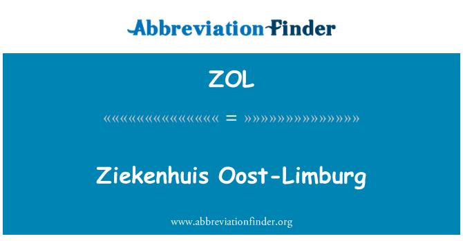 ZOL: Ziekenhuis Oost-Limburg