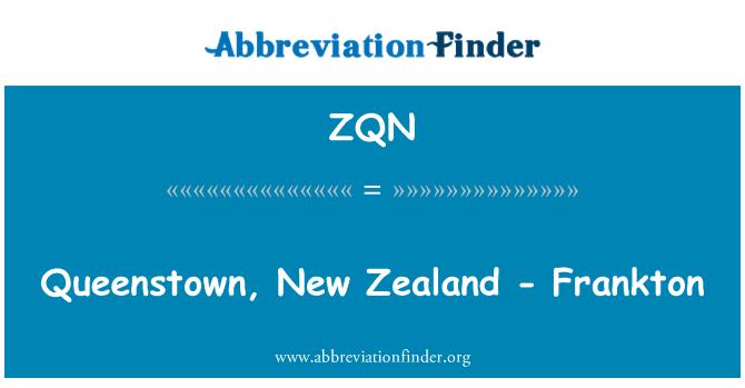 ZQN: Queenstown, New Zealand - Frankton