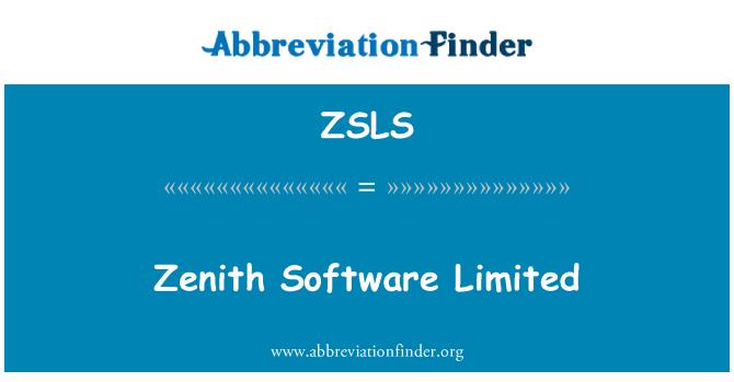 ZSLS: Zenith Software Limited