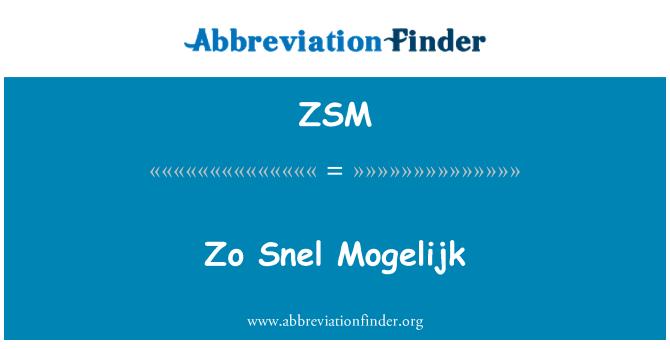 ZSM: زو سنال موگالاجک