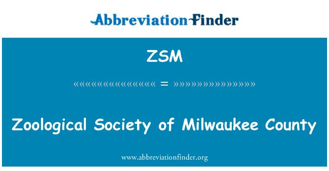 ZSM: Sociedad Zoológica del Condado de Milwaukee