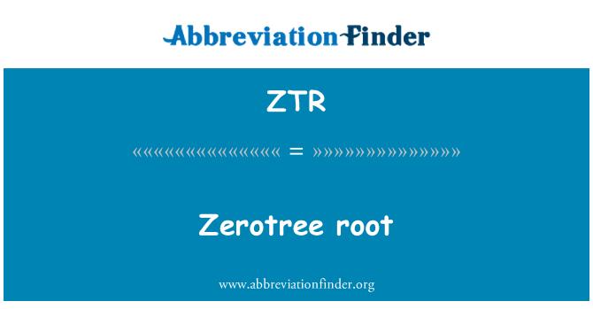 ZTR: Zerotree root