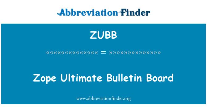 ZUBB: Zope Ultimate Bulletin Board