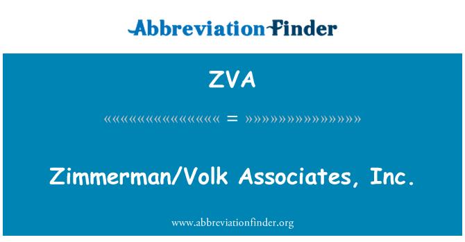 ZVA: Zimmerman/Volk Associates, Inc.