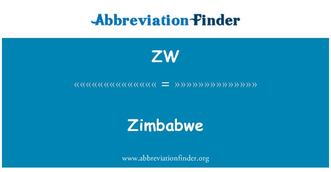 ZW: Zimbabwe