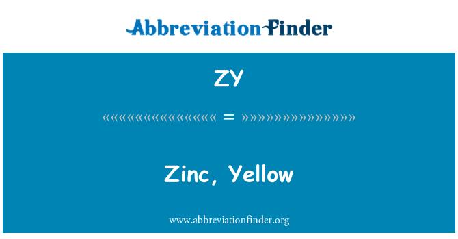 ZY: Zinc, Yellow