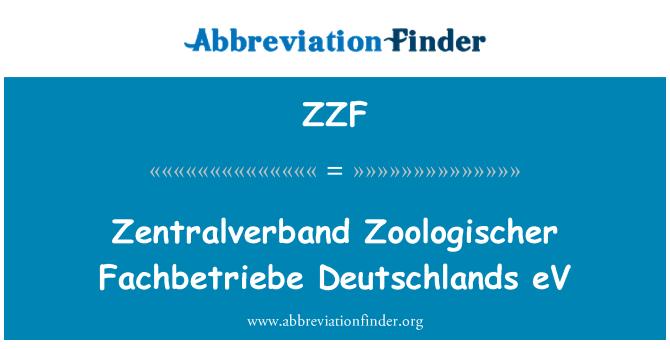 ZZF: Zentralverband 对于游览 Fachbetriebe Deutschlands 电动汽车