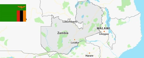 Map of Zambia