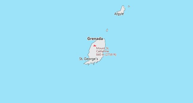 Map of Grenada Country