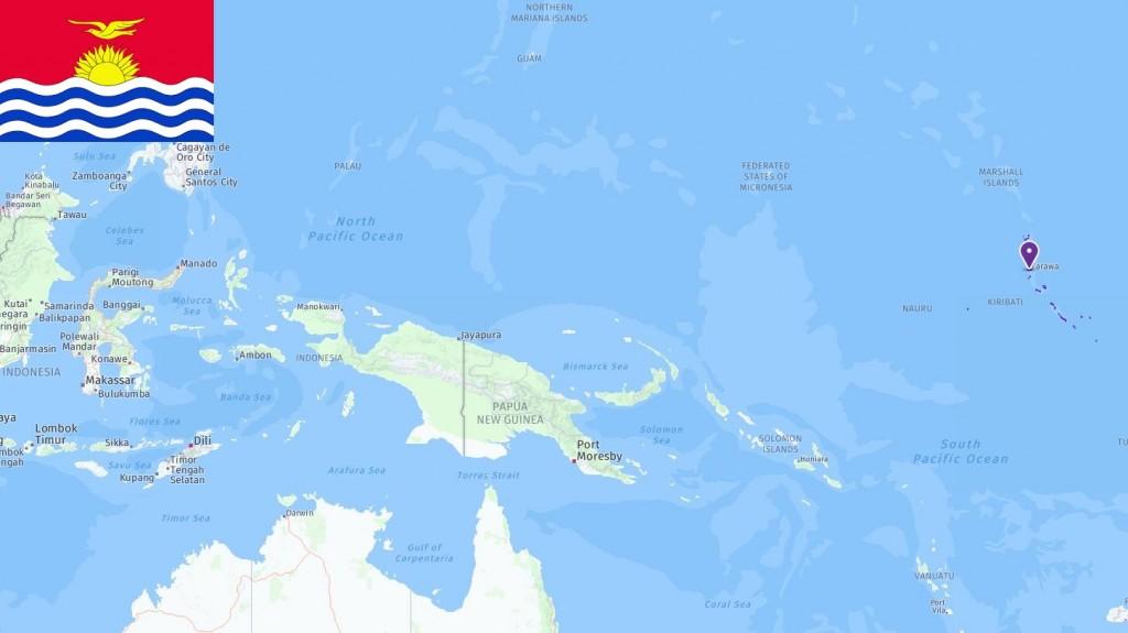 Map of Kiribati