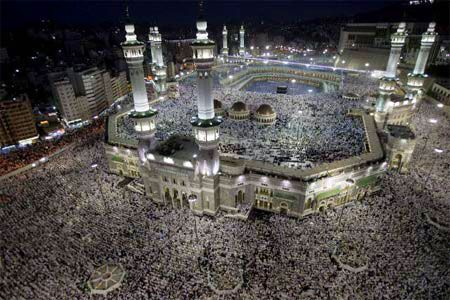 Al-Haram Mosque in the city of Mecca