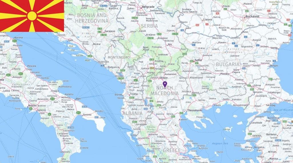 Map of North Macedonia