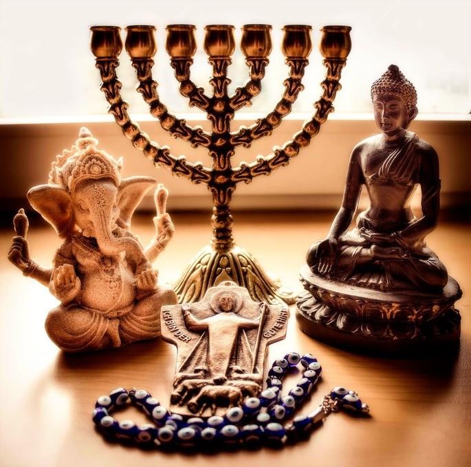 Symbols of different religions