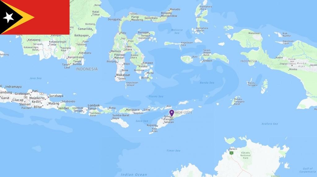 Map of Timor-Leste
