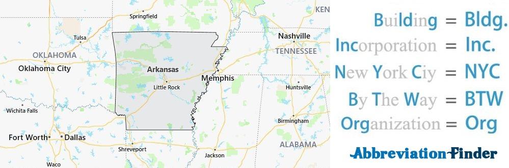 Arkansas State Abbreviations