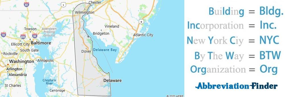 Delaware State Abbreviations