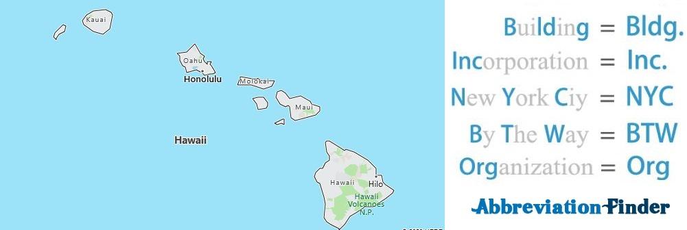 Hawaii State Abbreviations