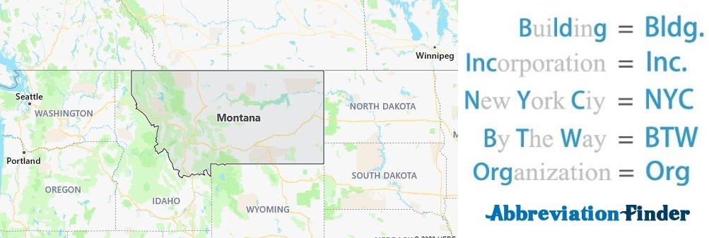 Montana State Abbreviations