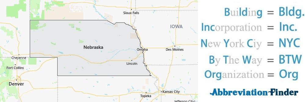 Nebraska State Abbreviations