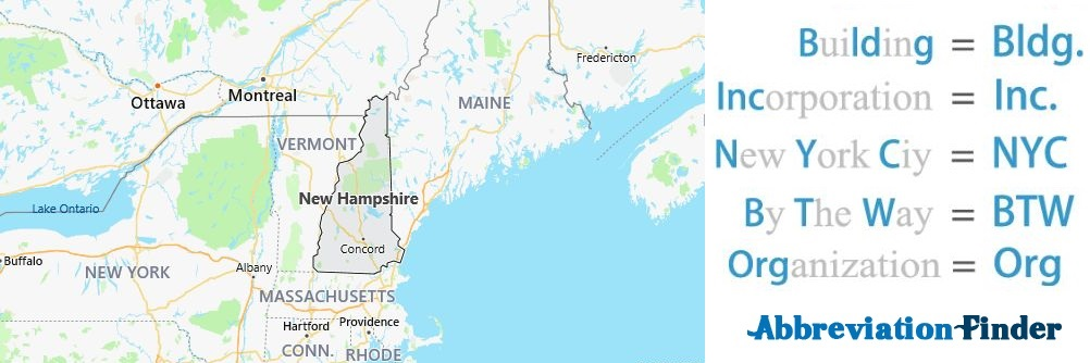 New Hampshire State Abbreviations