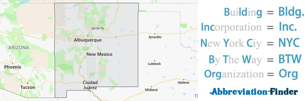 New Mexico State Abbreviations