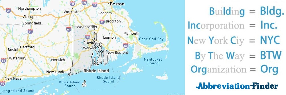 Rhode Island State Abbreviations