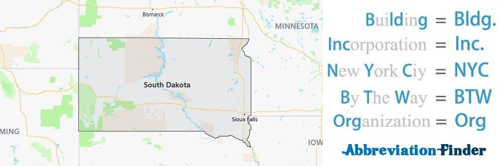 South Dakota State Abbreviations