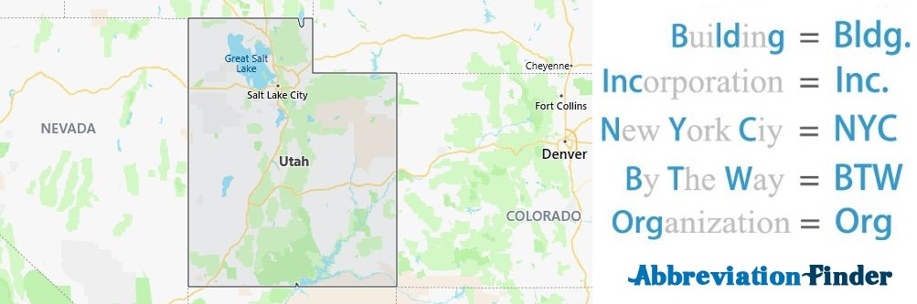 Utah State Abbreviations
