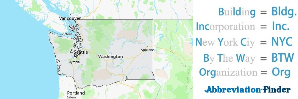 Washington State Abbreviations