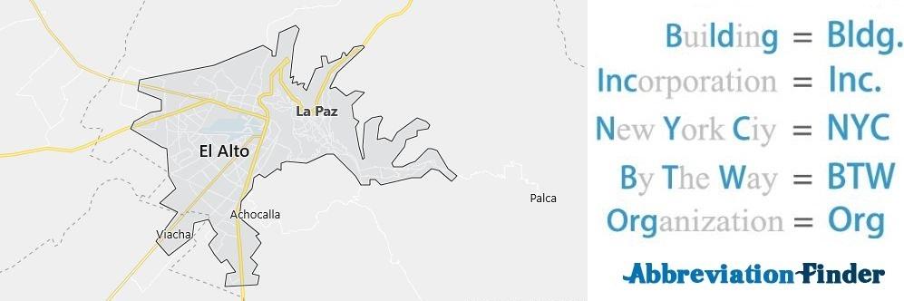 La Paz and Acronyms
