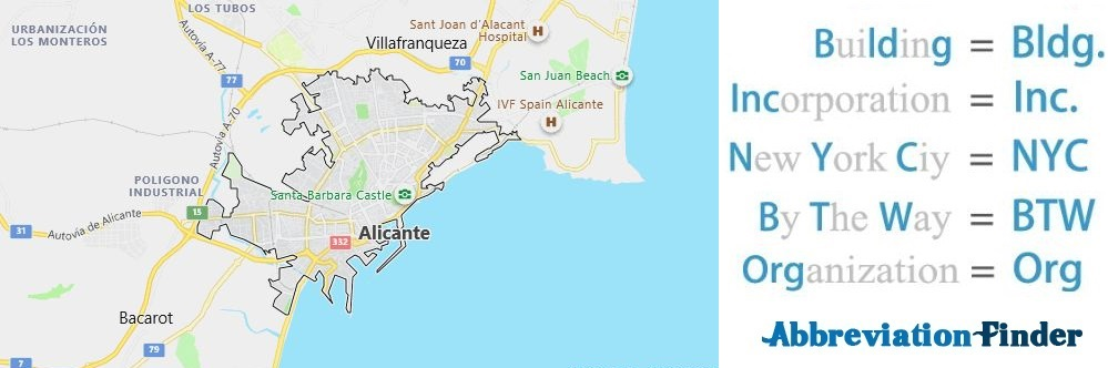Alicante and Acronyms