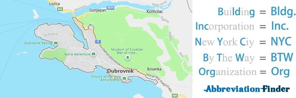 Dubrovnik and Acronyms