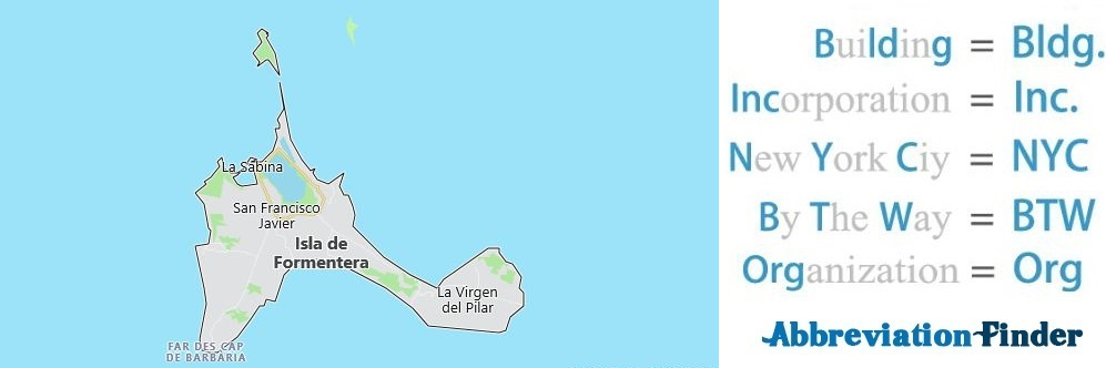 Formentera and Acronyms