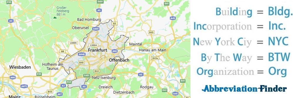 Frankfurt and Acronyms