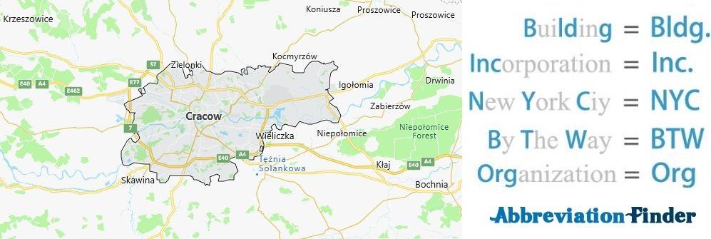 Krakow and Acronyms