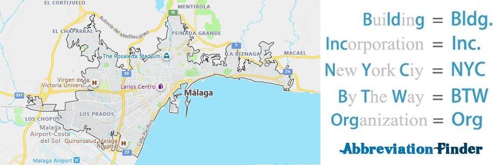 Malaga and Acronyms