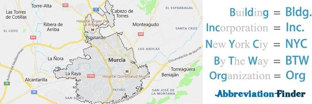 Murcia and Acronyms