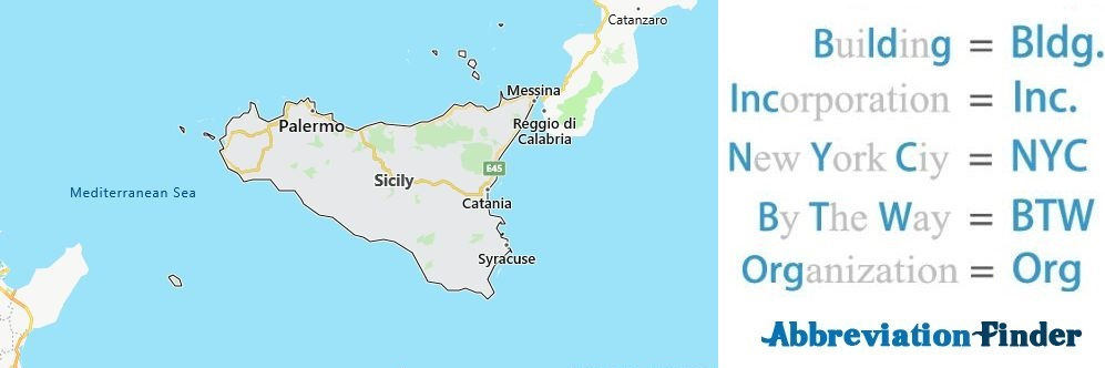 Sicily and Acronyms